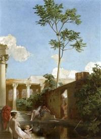 baigneurs dans les ruines by victor louis mottez