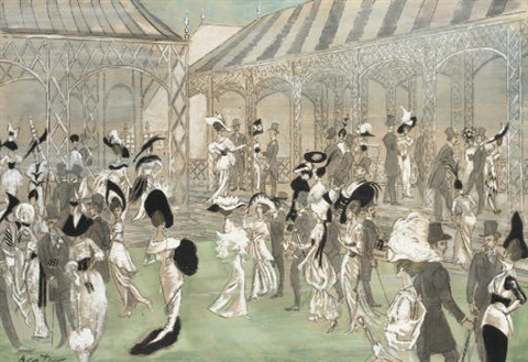 ascot gavotte set and costume design for my fair lady by cecil beaton