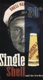 single shell by posters: advertising - shell oil