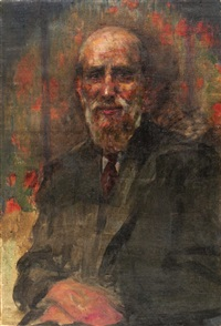 portrait of a man by leopold pilichowski