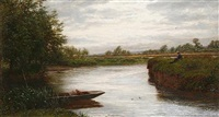 a cloudy day on the riverbank by walter field