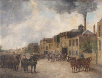 highbury brewery, holloway road, islington by george garrard