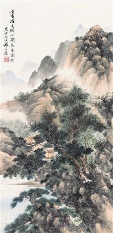 水国长春图 landscape by qi dakui