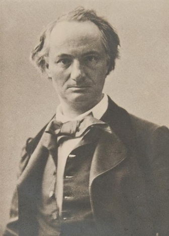 copy of a portrait of charles baudelaire by paul nadar