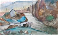 paysage au ruisseau by jacques gotko