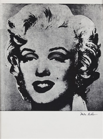 not warhol marylin by mike bidlo