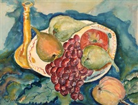 still life and fruit by avraham melnikov
