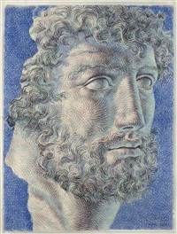 head of a bearded man by ricardo cinalli