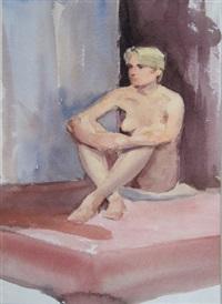 female nude (study) by niccolo d'ardia caracciolo