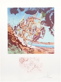 return of ulysses from homage a homere by salvador dalí