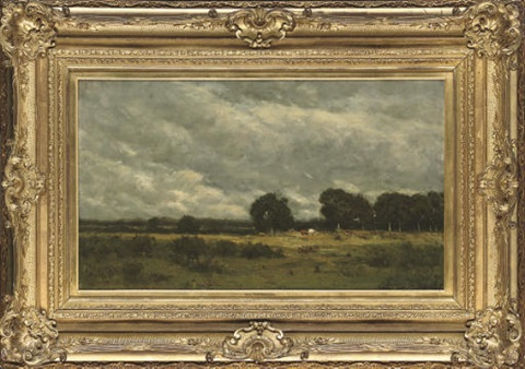 cattle grazing in the fields by arthur douglas peppercorn