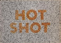 hot shot, from 18 small prints by ed ruscha