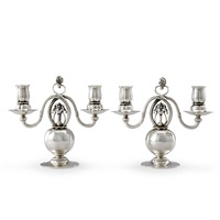 candelabras, 1 pair by georg jensen