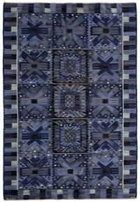 nejlikan blå carpet by barbro nilsson