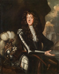 dreiviertelportrait von thomas butler, 6th earl of ossory (1634-1680) in rüstung by sir peter lely