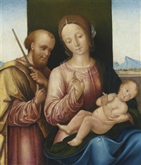 the holy family by bernardino di bosio zaganelli
