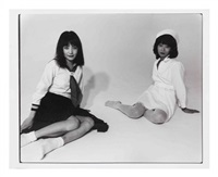untitled (schoolgirl and nurse) by nobuyoshi araki