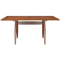 turned leg dining table by george nakashima