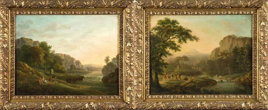 paysages antiques animés pair by maximilien lambert gelissen