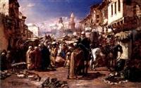 the arab bazaar by heinrich maria staackmann