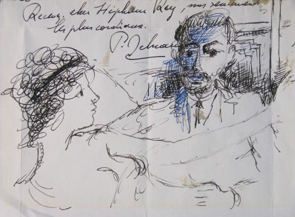 couple by paul delvaux