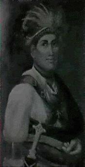 portrait of mohawk indian chief joseph brant by waldon sylvester arnholt