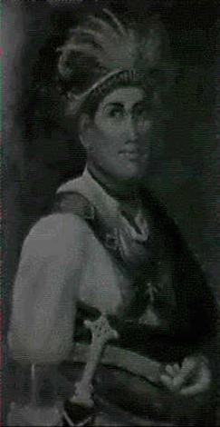 portrait of mohawk indian chief joseph brant by waldon sylvester arnholt