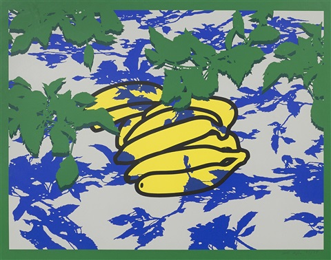 banana with leaves by patrick caulfield