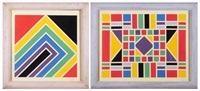 untitled geometrics (2 works) by lazlo kadlacskik