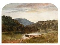 sundown on the wye near monmouth by john smart