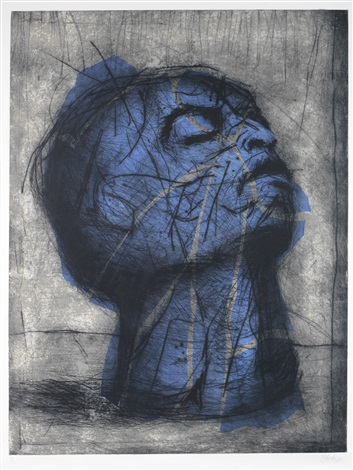 blue head by william kentridge