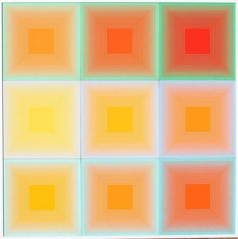 spectral nine by richard anuszkiewicz