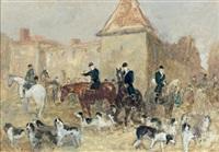 le départ pour la chasse by antoine de la boulaye