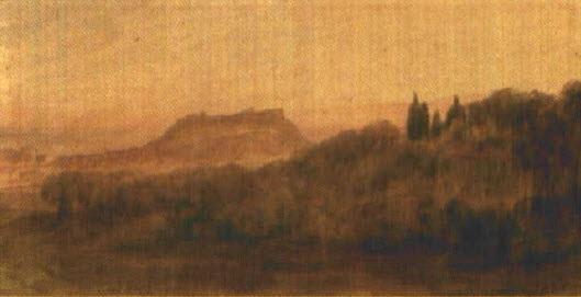 nice le château vu depuis cimiez by joseph fricero