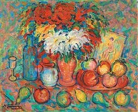 fruits et bouquet by nathan gutman