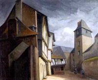 rue des archers à quimperlé by jules leray