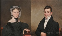 portraits of robert orrell and his wife ann walsh dickens of providence, rhode island (pair) by james sullivan lincoln