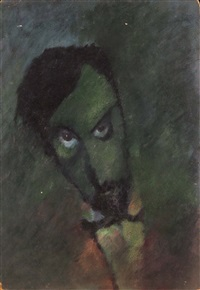 self-portrait in green by eduard ziuzin