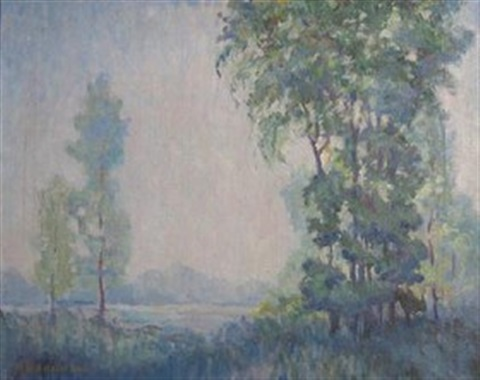 landscape in spring by ernest albert