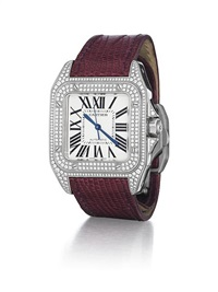 santos 100 automatic wristwatch by cartier