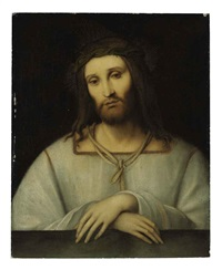 christ as man of sorrows by bernardino luini