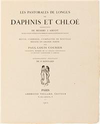 longus. les pastorales de longus, ou daphnis et chloé. lithographies originales de pierre bonnard (bk w/154 works) by pierre bonnard