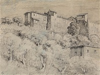 outside the walls, san gimignano, tuscany, italy by lloyd frederic rees