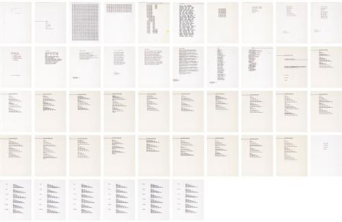 sheaf of typescript concrete poems in 46 parts by carl andre