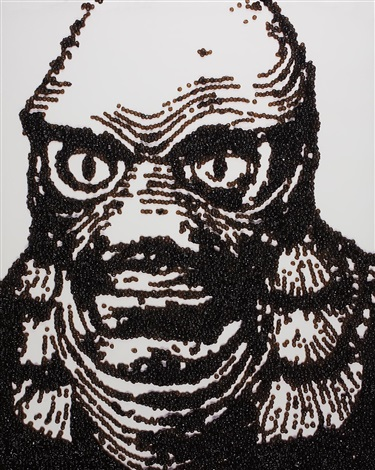 creature from the black lagoon from pictures of caviar by vik muniz