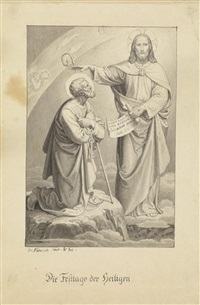 wachet und bethet, damit ihr nicht in versuchung fallet (+ die festtage der heiligen, 2 works) by josef von führich