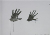 hand and shrunken hand by bruce nauman