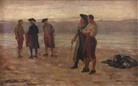 duell am strand by alfeo argentieri