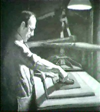 woodblock printer by bernhard gutmann