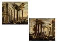 ruinencapricci (pair) by viviano codazzi